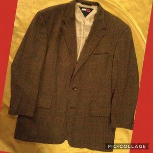 VINTAGE Tommy Hilfiger men's tweed blazer 42R EUC